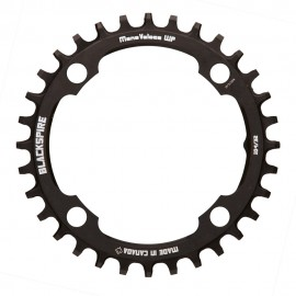 BLACKSPIRE Mono Veloce Narrow Wide Chainring 4-Bolt - Black - Snaggletooth