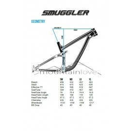 Transition 2015 SMUGGLER Rahmenkit inkl. RockShox Monarch RT3 Debonair Rear Shock