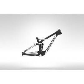 Devinci Troy Carbon Rahmen 140mm - schwarz / weiß