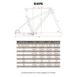 "Ragley Blue Pig Bluepig 2019 Komplettbike 27,5"" 650B"