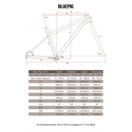 "Ragley Blue Pig Hardtail 2020 Rahmen 27,5"""